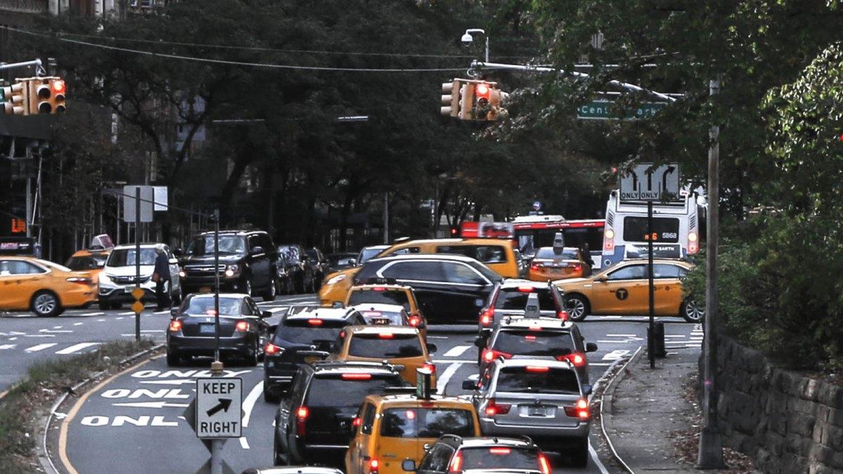 Vehicles at traffic lights