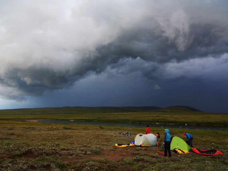 Storm clouds in Alaska
