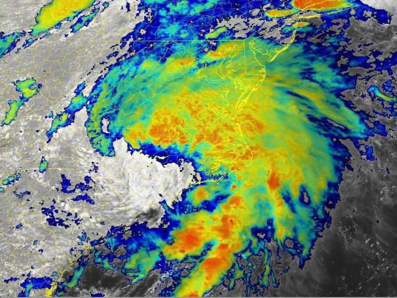 Satellite image of Tropical Storm Elsa, July 8, 2021