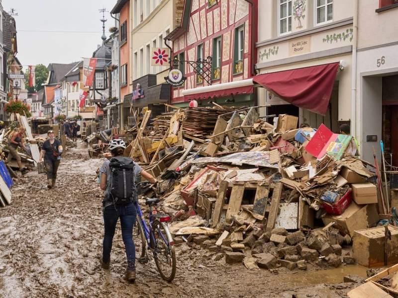 Flood damage in Germany, July 2021