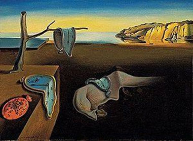 Photo of Salvador Dali painting