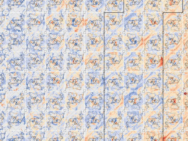 Heat gradient map