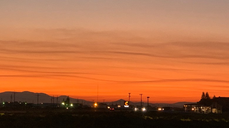 Sunset clouds at Alamosa, CO