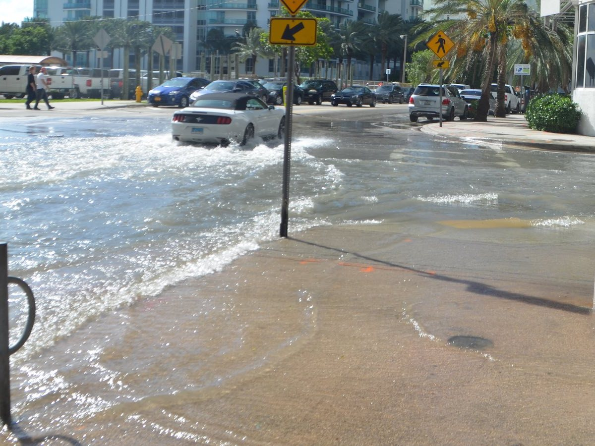 High-tide flooding in Miami