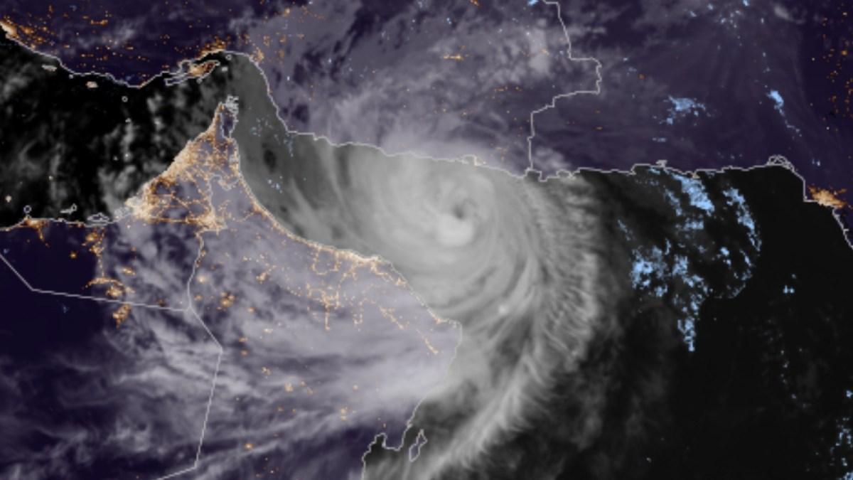 Satellite image of Cyclone Shaheen-Gulab