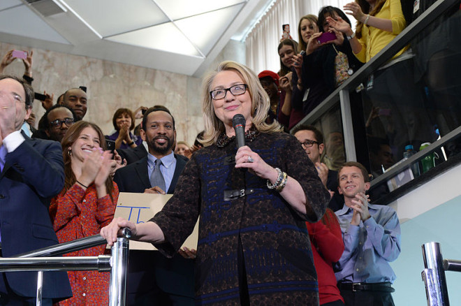 Hillary Clinton LAW '73 will address Law School alumni at Woolsey Hall in October.