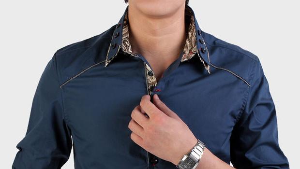 Рубашка с двойным воротничком