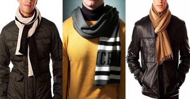 Мужские шарфы, способы завязывания