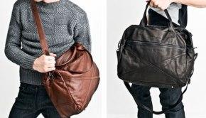 Кожаная мужская сумка через плечо