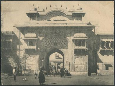Residency Gate - Photos from Jaipur, 1880-1920 (Image Source: Columbia University)