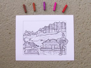 DIY Coloring Rajasthan Art Print