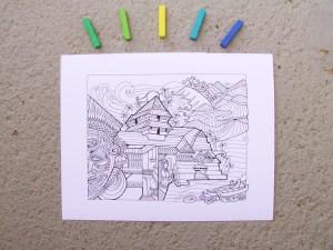 DIY Coloring Kerala Art Print