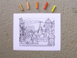 DIY Coloring Chennai Art Print