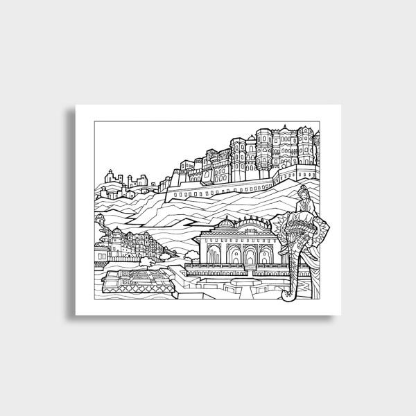 Rajasthan DIY Art Print