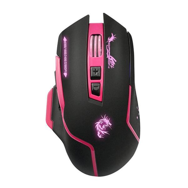 Dragon War Gaming Mouse Silent 3200 DPI G17 Pink - www.yallagoom.com.qa
