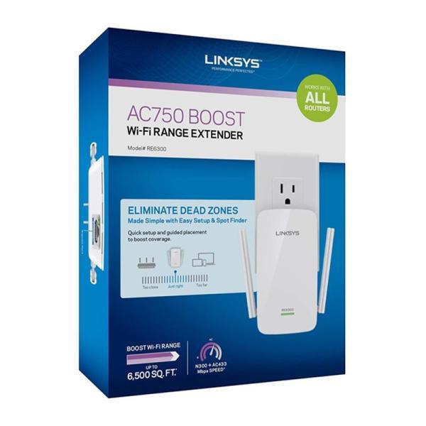 Linksys RE6300 AC750 BOOST Wi-Fi Range Extender - www.yallagoom.com.qa