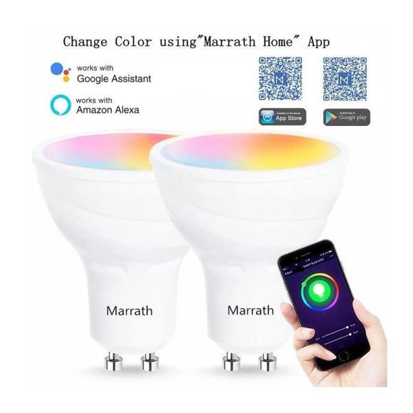 Marrath Smart Wi-Fi 16 Million Color RGBW GU 10 Spot Ceiling Light - www.yallagoom.com.qa