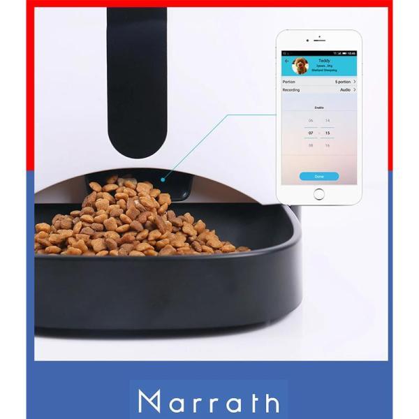 Marrath Smart WiFi Automatic Pet Feeder with Camera - www.yallagoom.com.qa