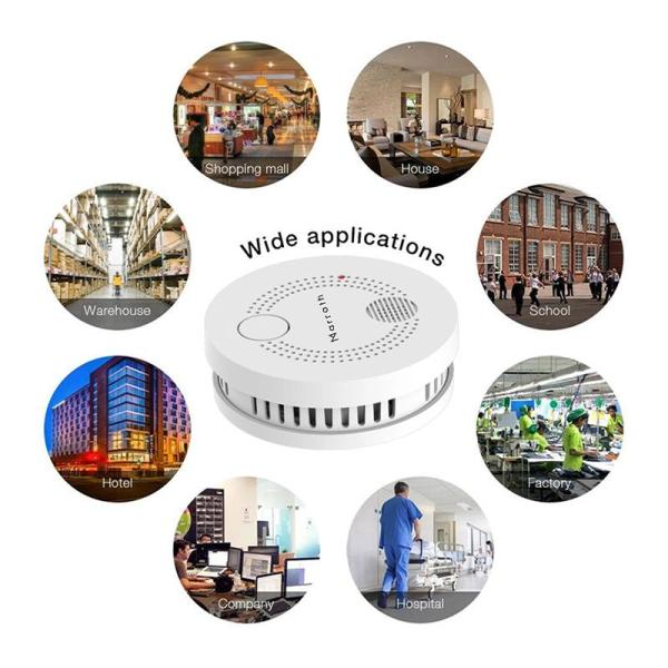 Marrath Smart WiFi Smoke Sensor and Fire Alarm - www.yallagoom.com.qa