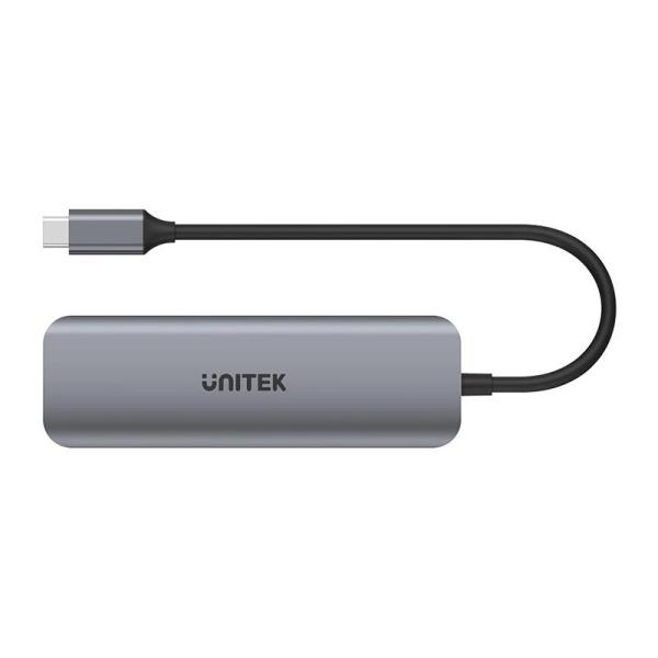 Unitek 6-in-1 USB3.1 Gen1 Type-C Hub Power Delivery 100W - www.yallagoom.com.qa