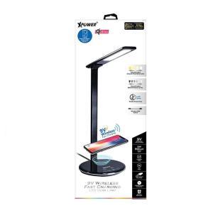 XPower Wireless LED Desktop Lamp Black-Yallagoom.com.qa