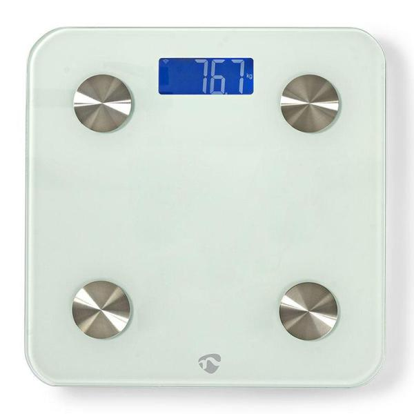 Wi-Fi Smart Personal Scales | BMI, Fat, Water, Bones, Muscle, Protein | Tempered Glass | 8 Users-Yallagoom.com.qa