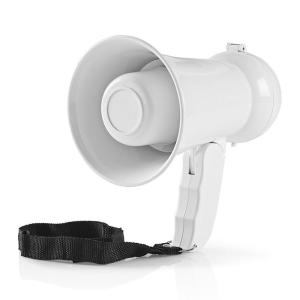 Supporter Megaphone | 100 dB | 100 m Range | Country Stickers | White-Yallagoom.com.qa