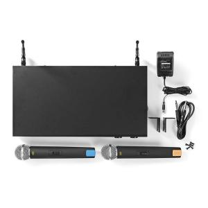 Wireless Microphone Set | 16-Channel | 2 Microphones Included-Yallagoom.com.qa