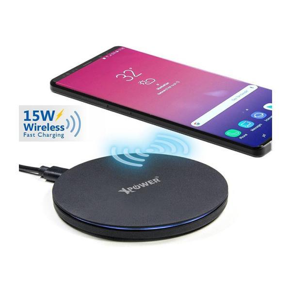 XPower 15W WL15 Wireless Charger - Black-Yallagoom.com.qa