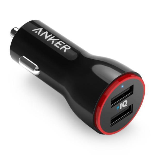 ANKER POWER DRIVE 2 CAR CHARGER 2 PORT ADAPTER-Yallagoom.com.qa