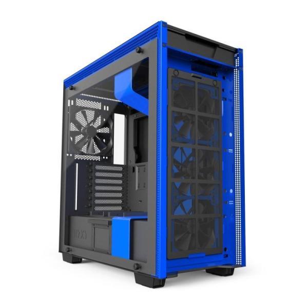 NZXT H700i SMART ATX CASE MATTE BLACK/BLACK BLUE-yallagoom.com.qa