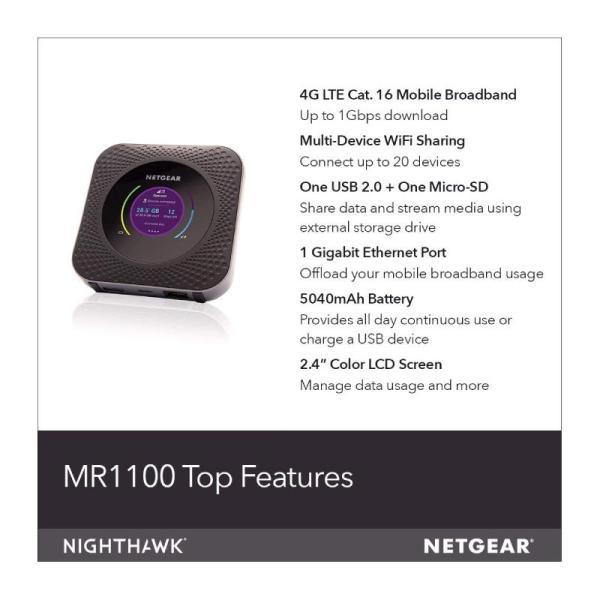 Netgear Mobile Hotspot Nighthawk M1 4g Lte Router -yallagoom.com.qa