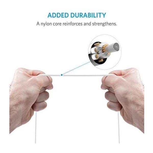 ANKER MFI USB TO LIGHTNING ROUND CABLE (3FT) - 0.9M-Yallagoom.com.qa
