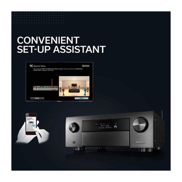 Denon AVR-X4500H 9.2CH High Power 4K Ultra HD AV Receiver-Yallagoom.com.qa