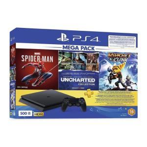 PS4 SLIM 500GB +3GAMES + 3M PS CARD-yallagoom.com.qa