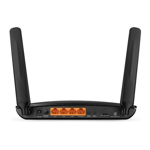 TP-Link TL-MR6400 300Mbps 4G Mobile Wi-Fi Router, 4 Ports-yallagoom.com.qa