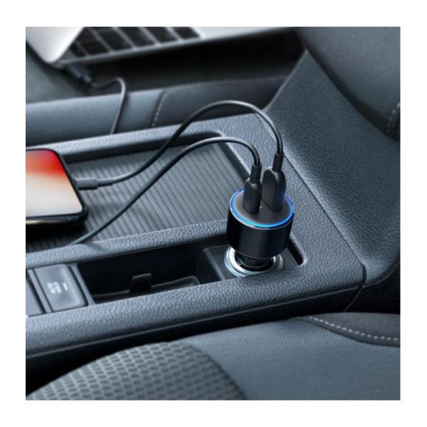 ANKER POWERDRIVE SPEED + 2 DUAL PORT USB-C AND USB-A CAR CHARGER-Yallagoom.com.qa
