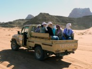 off-roading in Wadi Rum, Jordan