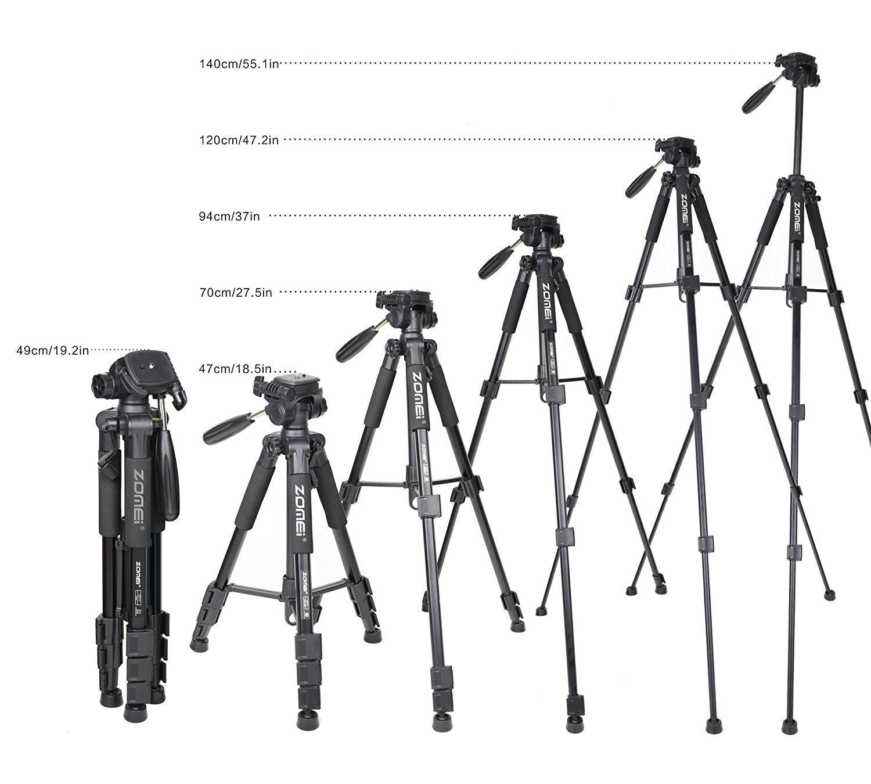Portable Zomei Q111 Al Alloy Camera Tripod For Dslr Canon Nikon Sony Dv Video