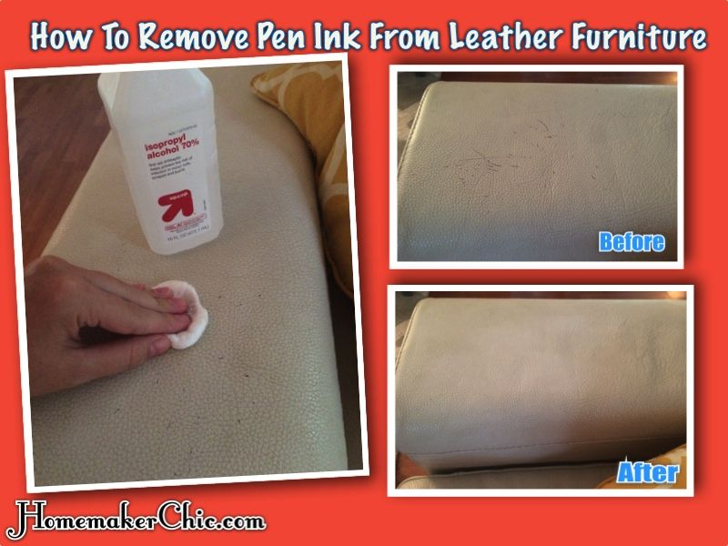 How to remove pen ink from leather furniture remove ink