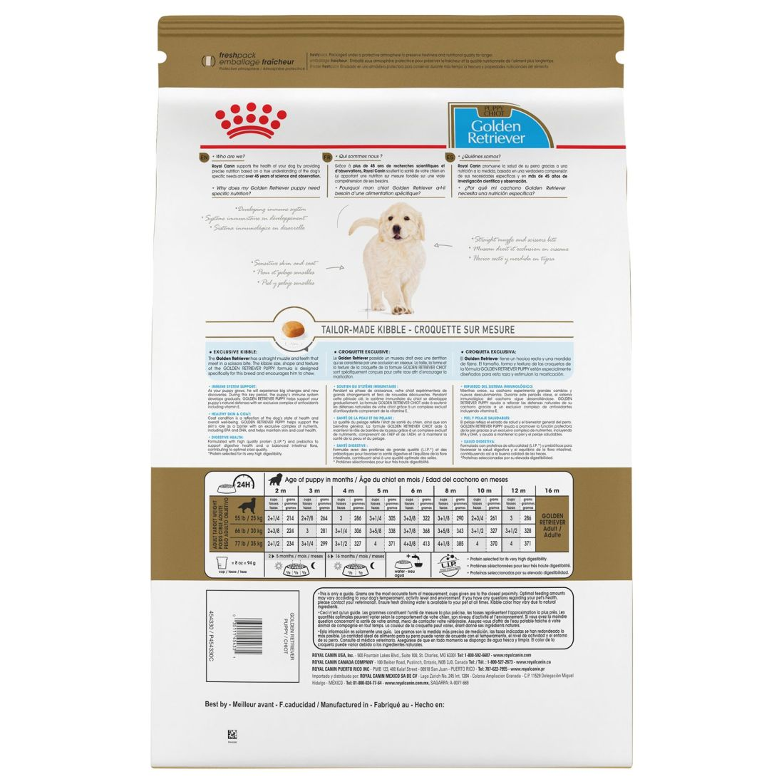 how much to feed golden retriever puppy royal canin
