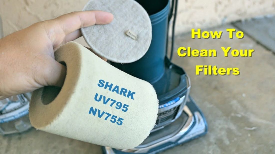How to clean your filters shark vacuum uv795 nv755
