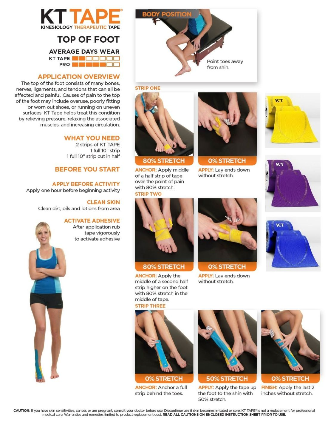 Anklesfeet how to apply kt tape instruction and videos