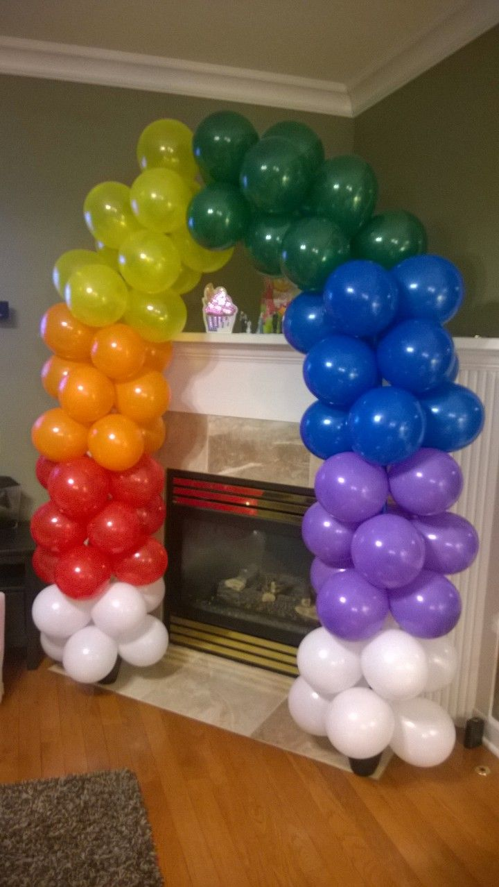 Diy balloon arch pvc frame planting pots filled with