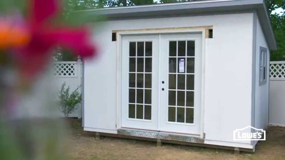 How to install french doors in a shed installing french