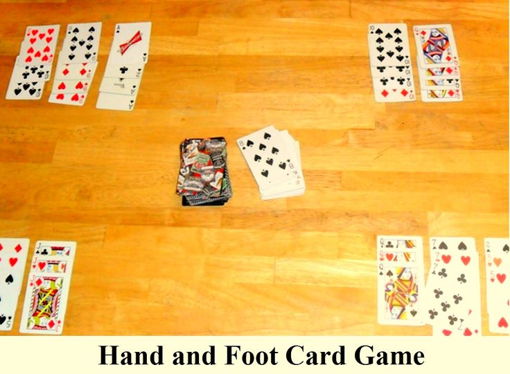 Hand and card foot game rules and variations jewelry