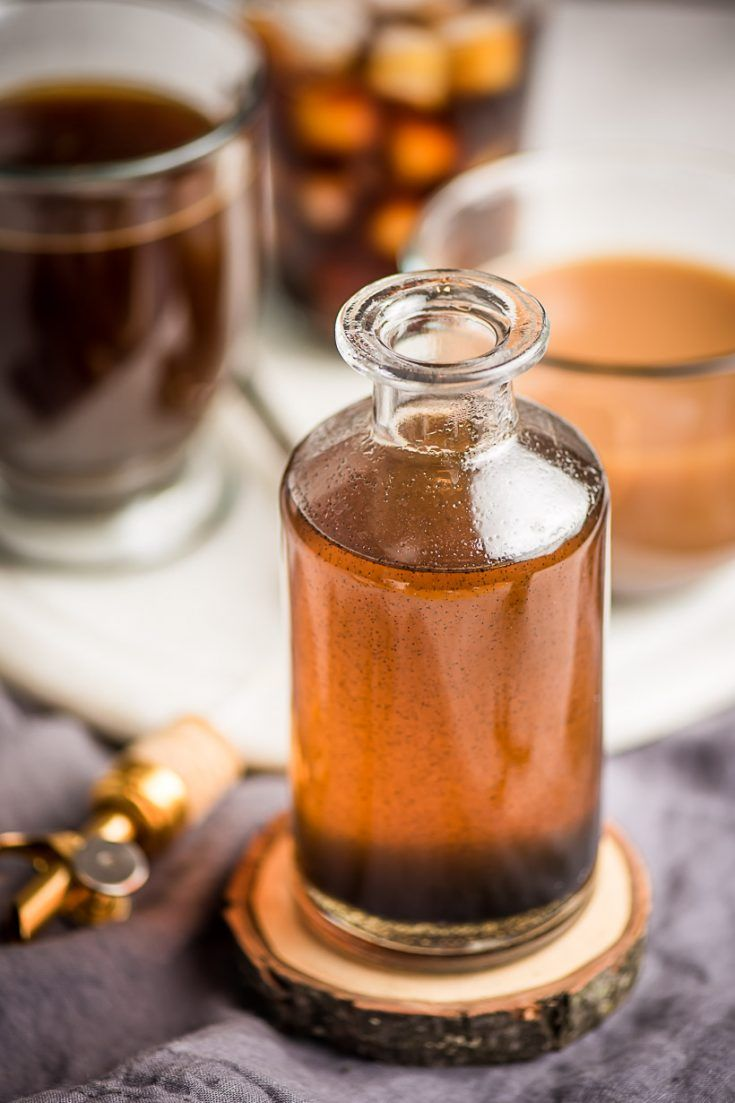 Homemade vanilla syrup is ridiculously easy to make and