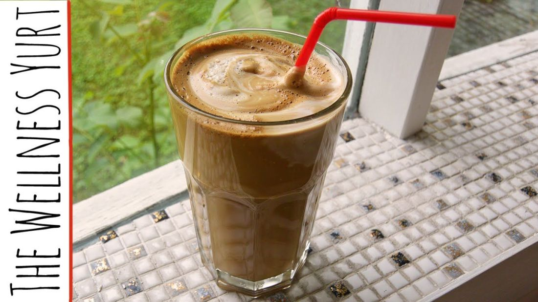 How to make iced coffee greek frappe with almond milk