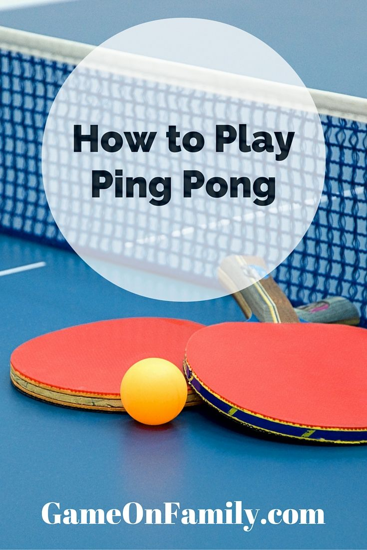 How to play ping pong plays the ojays and to play