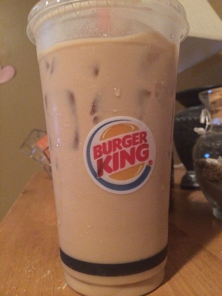 Burger king has the best iced coffees and its vanilla